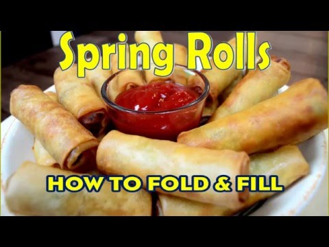 How to fold Spring Rolls | Indian Cooking Recipes | Cook with Anisa