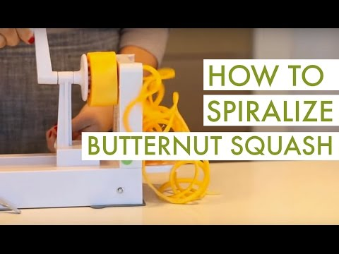 How to Spiralize Butternut Squash