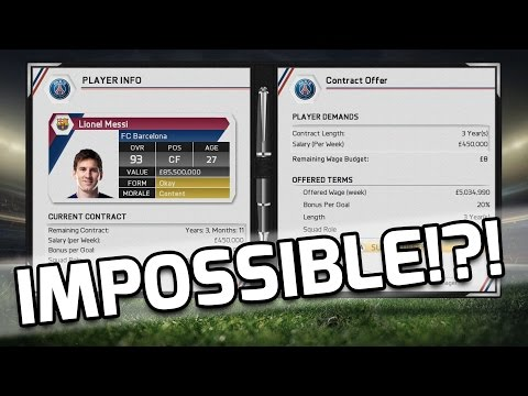 FIFA 15 - IMPOSSIBLE TO SIGN MESSI?!? - Fifa 15 Mythbusters - Is It Possible To Sign Messi?