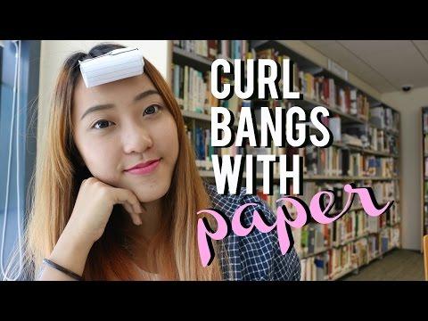 TIPS: Curl Bang/Fringe with paper!