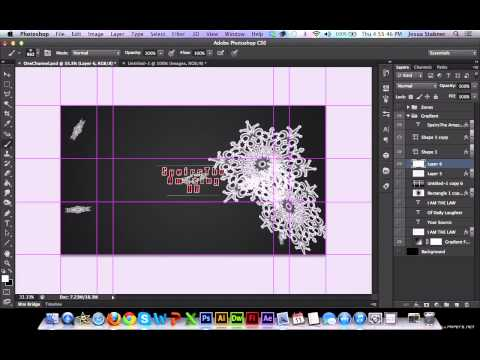 Photoshop 101 - How to make a YouTube Background 2013 (Photoshop CS3-CS6)