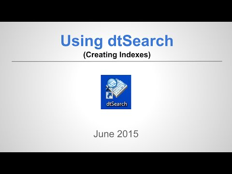 Creating a Personal dtSearch Index
