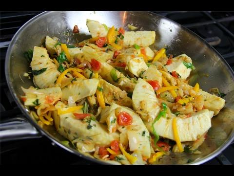 Roast Breadfruit In Stewed Saltfish #TastyTuesdays   CaribbeanPot.com