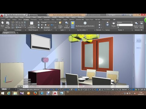Autocad 3D Basic Tutorial   Part 3  Lighting and Rendering