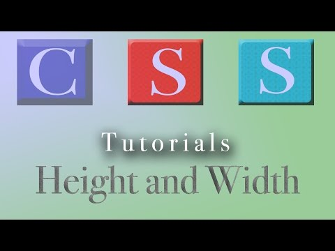 CSS Tutorial | Height and Width
