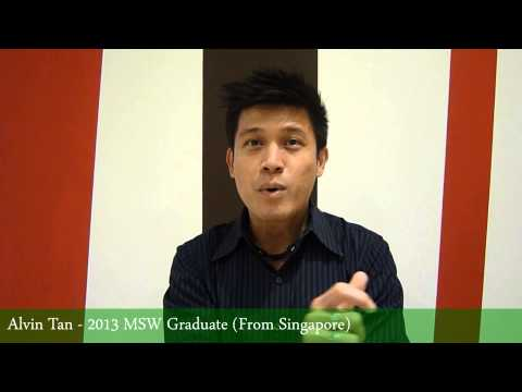 Alvin Tan - MSW Graduate (From Singapore)