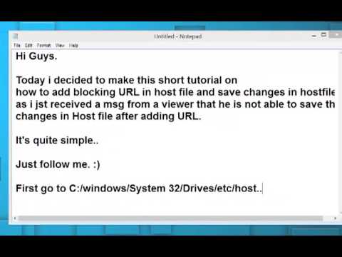how to add/edit URL into system's host file.