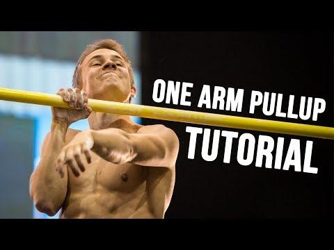 One Arm Pullup Tutorial - Einarmiger Klimmzug lernen [fullHD]