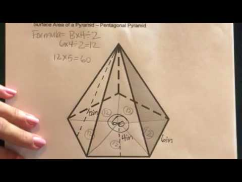 How to find the Surface Area of a Pentagonal Pyramid