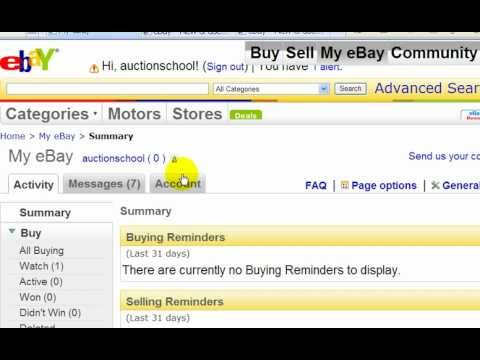How to sell on ebay, How to link paypal to ebay