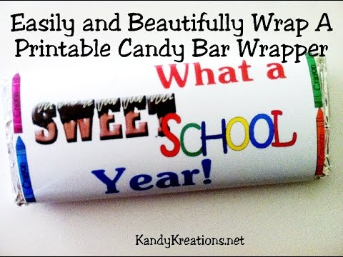 How to Wrap a Printable Candy bar Wrapper