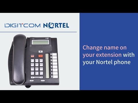 Change name on your extension with your Nortel phone