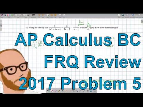 Calculus BC Free Response 2017 FRQ 5