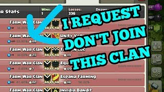 Clash of Clans ! I REQUEST DON'T JOIN THIS CLAN! COC
