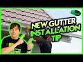New Gutter Installation Tip #3