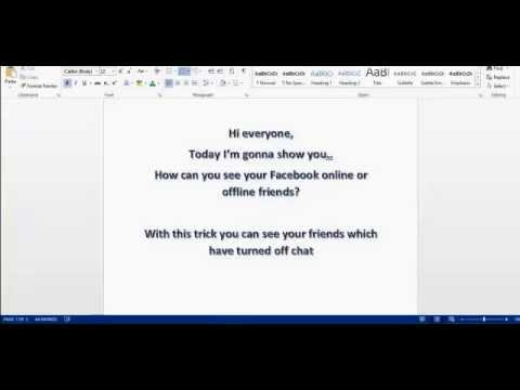How to see online facebook friends