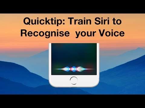 Quicktip: Train Siri to Recognise your Voice