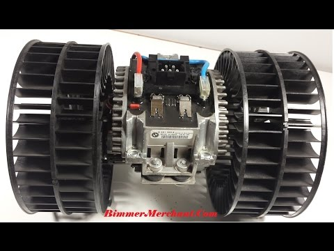 BMW E38 740i Climate Control Final Stage Resistor Blower Motor Removal