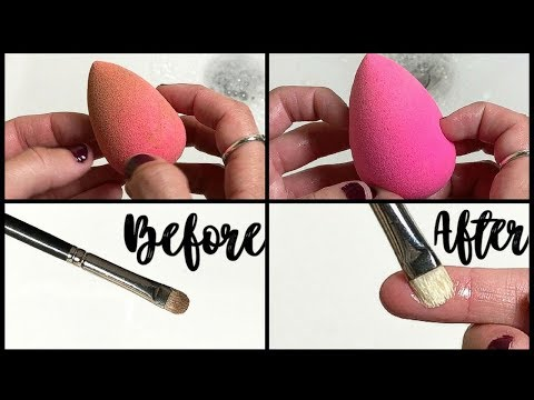 How I Clean My Beauty Blender & Makeup Brushes