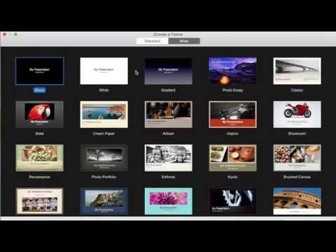 Create a video intro with keynote