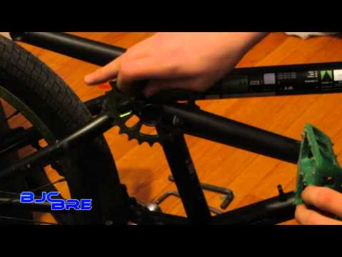 How to install 3-piece cranks on a BMX