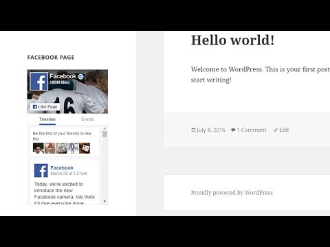 How To Add Facebook Page In WordPress Widget?