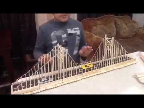 How To Make A Model Of A Suspension Bridge