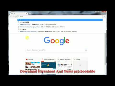How To make Hiren boot bootable to USB