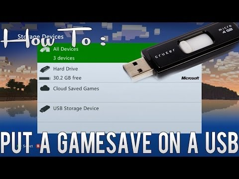 How To : Put A Gamesave Onto Your USB (Xbox 360)