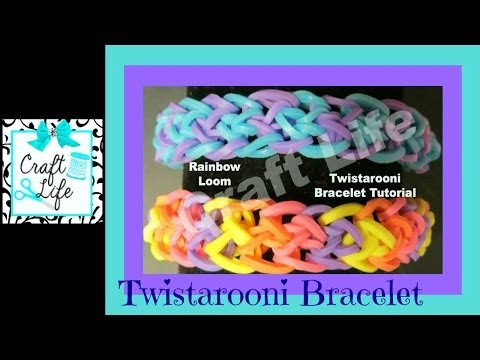 Craft Life ~ Jacy and Kacy DIY ~ Twistarooni Rainbow Loom Bracelet Tutorial