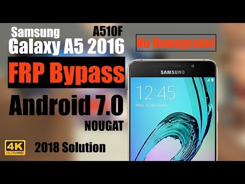 Samsung A5 [2016] FRP Bypass   A510F   Easy 2019 Guide   Android 7 0