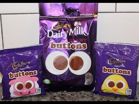 Cadbury Dairy Milk Buttons: UK vs USA Comparison & Review