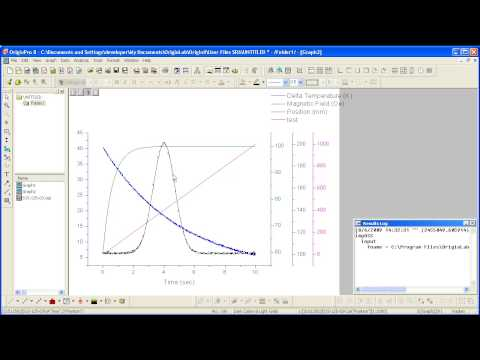 Graphing: Origin 8: How to make a Multi-Y Plot using pre-installed templates.