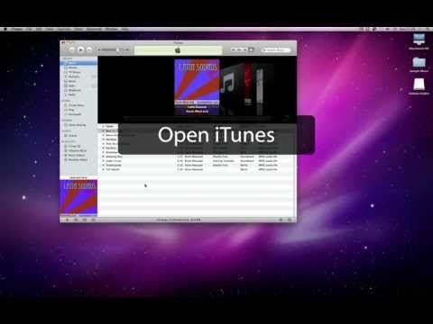 Importing music from a CD into iTunes