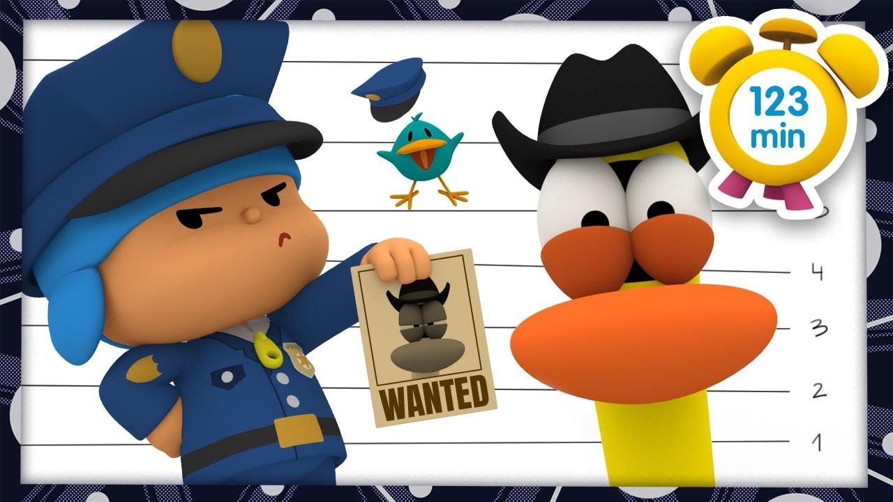 👮 POCOYÓ en ESPAÑOL - Quiero ser policía [ 123 minutos ] | CARICATURAS y DIBUJOS ANIMADOS para niños