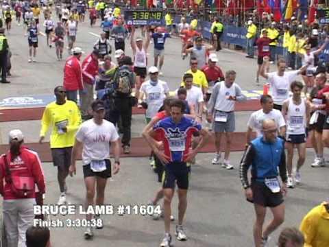 Crashing at the finish line of the 2009 Boston Marathon...