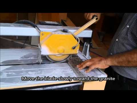 How To Cut Granite or Quartz for backsplash - DIY