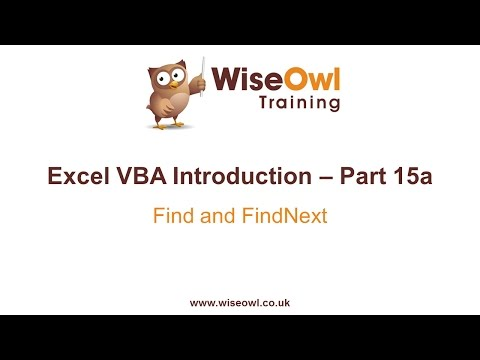 Excel VBA Introduction Part 15a - Find and FindNext