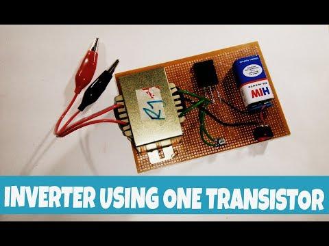 12v to 220v inverter using only one transistors | TTC5200 transistor.