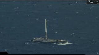 SpaceX Falcon 9 Launch with Dragon & Successful Landing at Sea