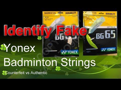 Identify Fake Yonex Badminton Strings