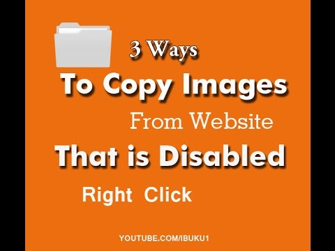 3 ways:  To Save as Images From Website,  When Right Click Is Disabled