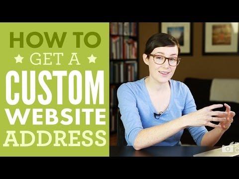 How To Get A Custom Website Address