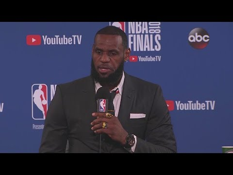 LeBron James Gets Angry At Reporters Asking About JR Smith's Mistake After Game 1 and Walks Off!