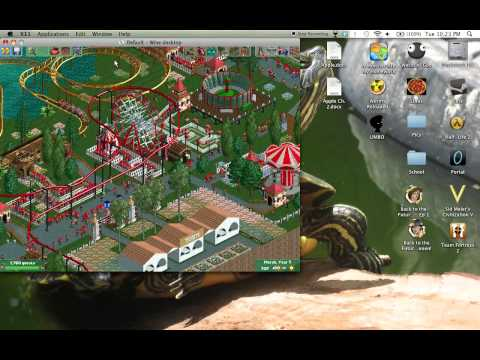 Roller Coaster Tycoon 2 on Mac with 8 Car Trainer