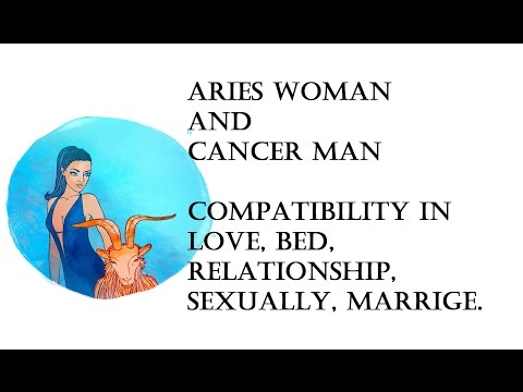 Aries Woman and Cancer Man Compatibility in love, bed, relationship, sexually, marrige. Horoscope