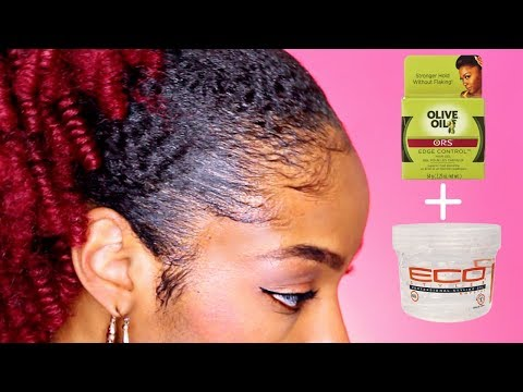 How to Lay Edges on Natural Hair► ALL DAY HOLD