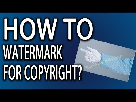 What Is A Watermark? How To Copyright Images With A Watermarking Symbol (Advanced)