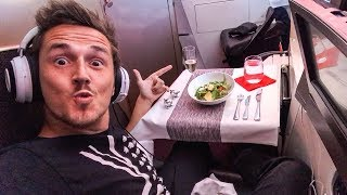 Flying FIRST CLASS To America!