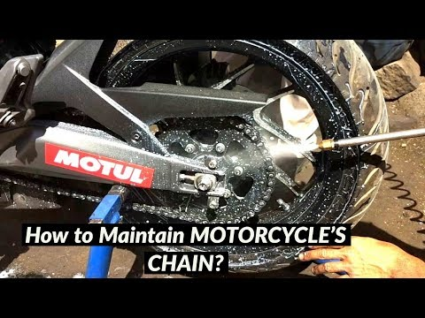How to LUBRICATE/MAINTAIN Motorcycle's Chain || DOMINAR 400 - BANG2W